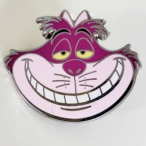 Cheshire Cat Smiling Face Pin Disney